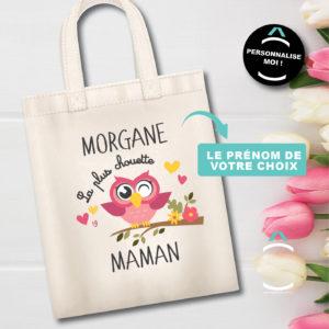 Tote-bag personnalisé – La plus chouette maman