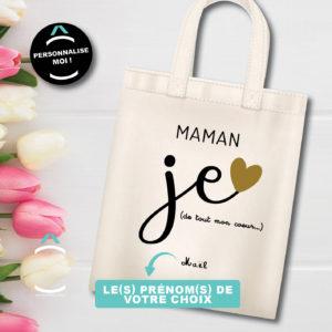 Tote-bag personnalisé – Maman, je t'aime de tout mon coeur