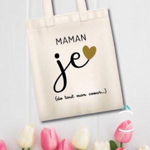 Tote-bag – Maman, je t'aime (de tout mon coeur)
