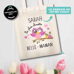 Tote-bag personnalisé – La plus chouette belle-maman