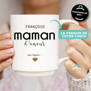 Mug personnalisable – Maman d'amour pour toujours