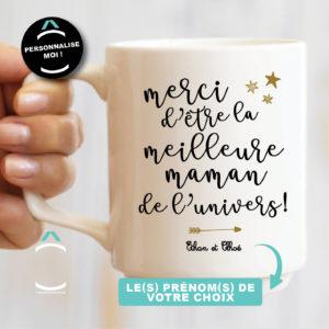 Mug personnalisable – Merci d'être la meilleure maman de l'univers