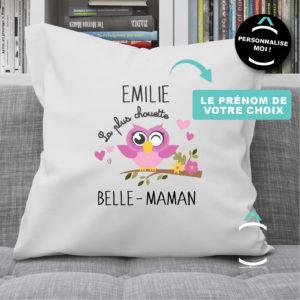 Coussin personnalisable – La plus chouette belle-maman