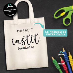 Tote-bag personnalisé – Instit génial(e)