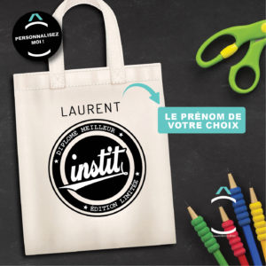 Tote-bag personnalisé – Diplômé(e) meilleur(e) instit