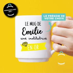 Mug personnalisable – Le mug d'un(e) instit en or