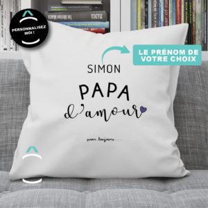 Coussin personnalisé – Papa d'amour