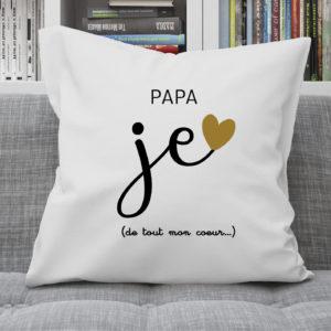 Coussin – Papa je t'aime de tout mon coeur