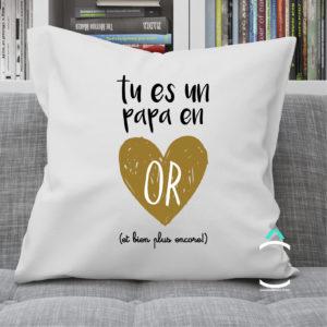 Coussin – Tu es un papa en or