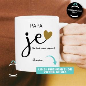 Mug personnalisable – Je t'aime papa, pour toujours