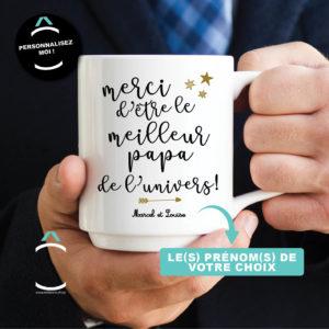 Mug personnalisable – Merci d'être le meilleur papa de l'univers