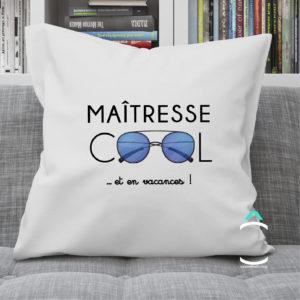 Coussin – Maître(sse) cool et en vacances!