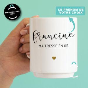 Mug personnalisable – Maître(sse) en or