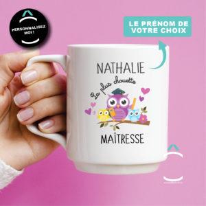 Mug personnalisable – Le/la plus chouette maître(sse)