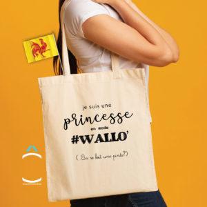 Tote-bag – Je suis une princesse en mode #Wallo'
