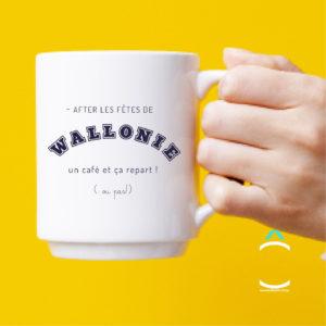 Mug – After les fêtes de Wallonie, un café et ça repart!
