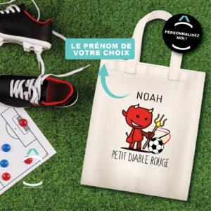 Tote-bag personnalisé – Petit Diable Rouge