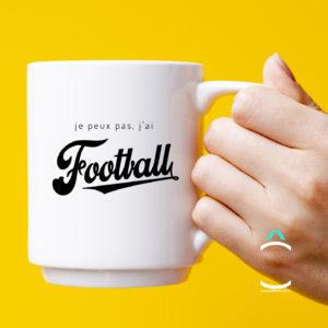 Mug – Je peux pas, j'ai football
