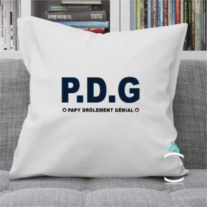 Coussin – PDG: Papy drôlement génial