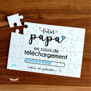 Puzzle – Futur papa en cours de téléchargement