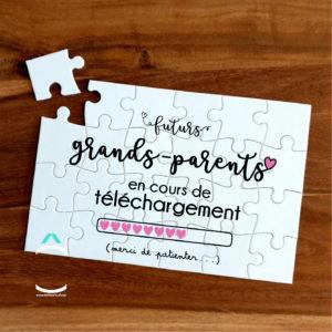 Puzzle – Futurs grands-parents en cours de téléchargement