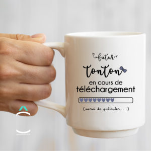 Mug – Futur tonton en cours de téléchargement