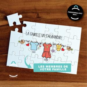 Puzzle personnalisable – La famille va s'agrandir