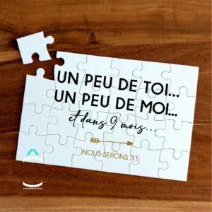Puzzle – Un peu de toi, un peu de moi et dans 9 mois, nous serons 3