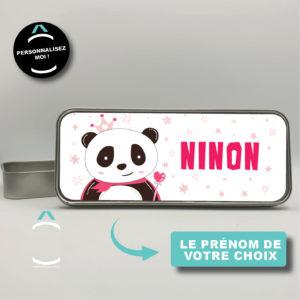 Plumier en métal personnalisé – Princesse panda