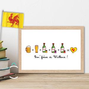 Cadre – Bon' fièsse di Wallonie !