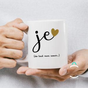 Mug – Je t'aime de tout mon coeur