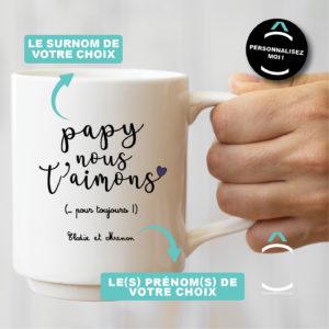 Mug personnalisable – Je/Nous t'aime/aimons