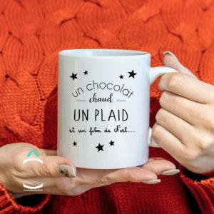 Mug – Un chocolat chaud, un plaid et un film de Noël
