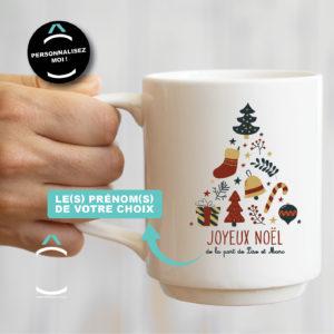 Mug personnalisable – Sapin de Noël