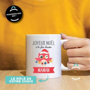 Mug personnalisable – Joyeux Noël à la plus chouette