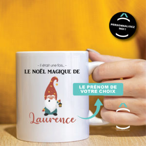 Mug personnalisable – Lutin de Noël