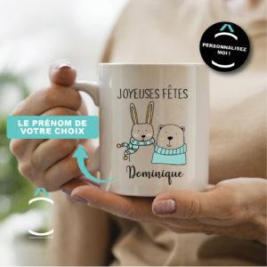 Mug personnalisable – Joyeuses fêtes