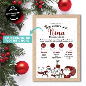 Cadre personnalisable – Mon premier Noël